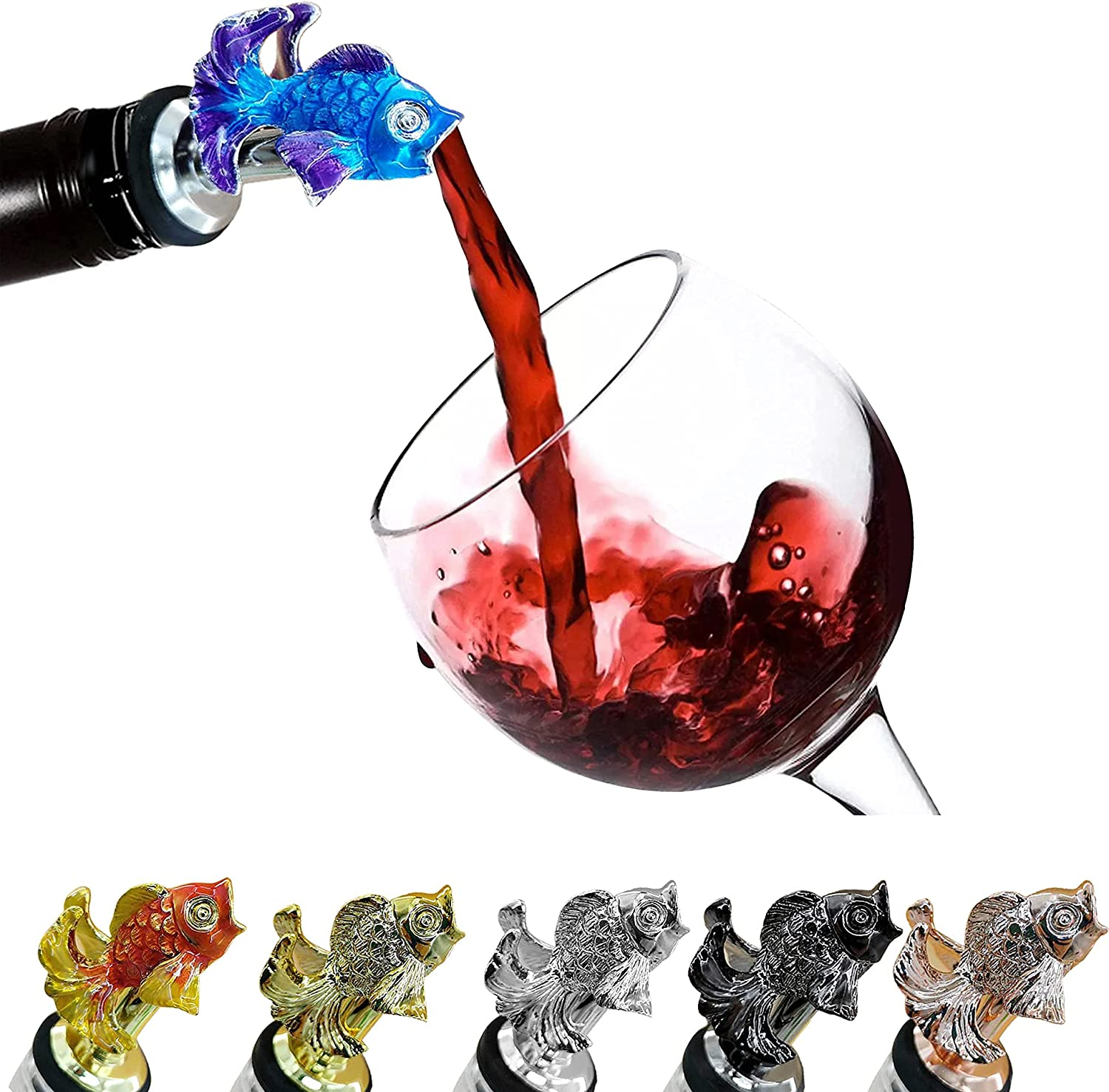 National uniform free shipping CORCHO - Fish Wine Animal 5% OFF Pourer Aerat