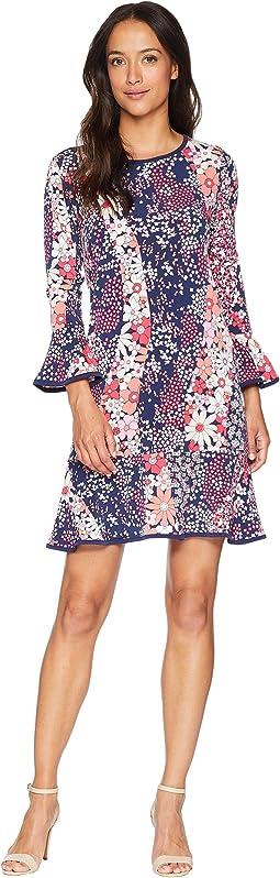 Patchwork Flounce Dress