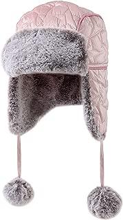 accsa Kids Girl Winter Warm Star Trapper Earflap Faux Fur Hat 7-10Y