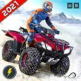 Futuristico Offroad Snow Mountain ATV Quad 4 Wheeler Bike Racing Stunt Simulator: Ultimate Crazy Bike Racing & Stunt Games 2021