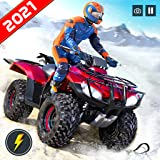 Futuristic Offroad Snow Mountain ATV Quad 4 Wheeler Bike Racing Stunt Simulator: Ultimate Crazy Bike Racing & Stunt Games 2021