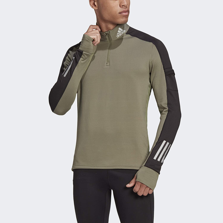 adidas Men's Own The Run store Zip Sweatshirt Warm 2 Free shipping on posting reviews 1