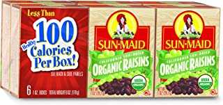 Sun-Maid Organic Raisins - Dried Fruit Snacks - Healthy Snacks For Kids- 32oz or 64oz (6 Ounce (Pack of 3))