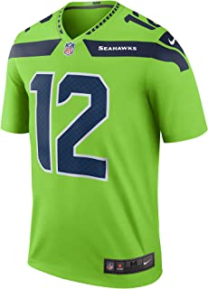 Nike Seattle Seahawks #12 Fan Color Rush Neon Green Legend Dri-FIT Jersey - Men's Medium