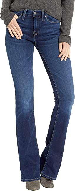 Drew Mid-Rise Bootcut Jeans in Baltic