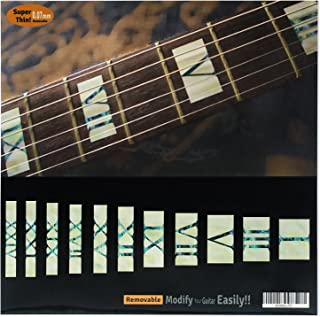 Fretboard Markers Inlay Sticker Decals for Guitar & Bass - Roman Numeral Block - WP
