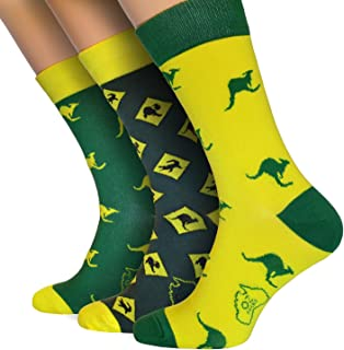 OZ SOCKS ™ Aussie Style Socks, 3 Pairs of, Extremely Original and Unique Australian Designed Socks,