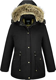 Sponsored Ad - Soularge Women's Winter Plus Size Sherpa Lined Coats with Faux Fur Hood