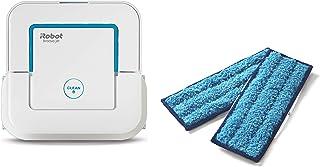 【セット商品】ブラーバ ジェット 240 アイロボット 床拭きロボット ホワイト B240060 + 【正規品】 ウェットモップパッド(洗濯可能)2枚セット ブラーバジェ ット 240 / 250 対応 4631656 ロボット掃除機