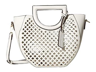 SOLE / SOCIETY Eppie Satchel (White) Handbags