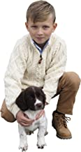 Aran Crafts Boys Half Zip Sweater (100% Merino Wool)
