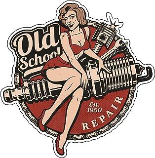 Finest-Folia Retro Vintage Aufkleber Sticker Old School Ace Kult Rockabilly #22 Spark Plug