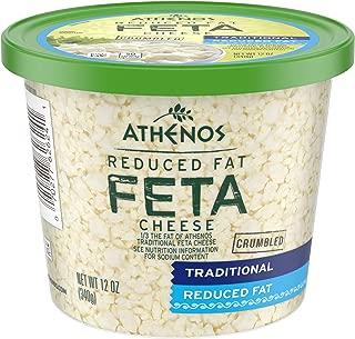 Athenos Reduced Fat Feta Cheese Crumbles, 12 oz Tub