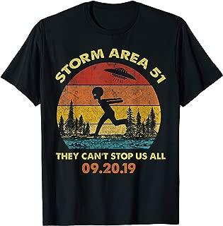 Vintage Alien Shirt Storm Area 51 UFO T-Shirt