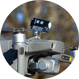 Roboterwerk M.O.N.A Mavic: Nightflight LED Light Kit, Accessories for DJI Mavic Pro, Mavic 2 (Pro/Zoom/Enterprise), up to 380 Lumen, tiltable lamp