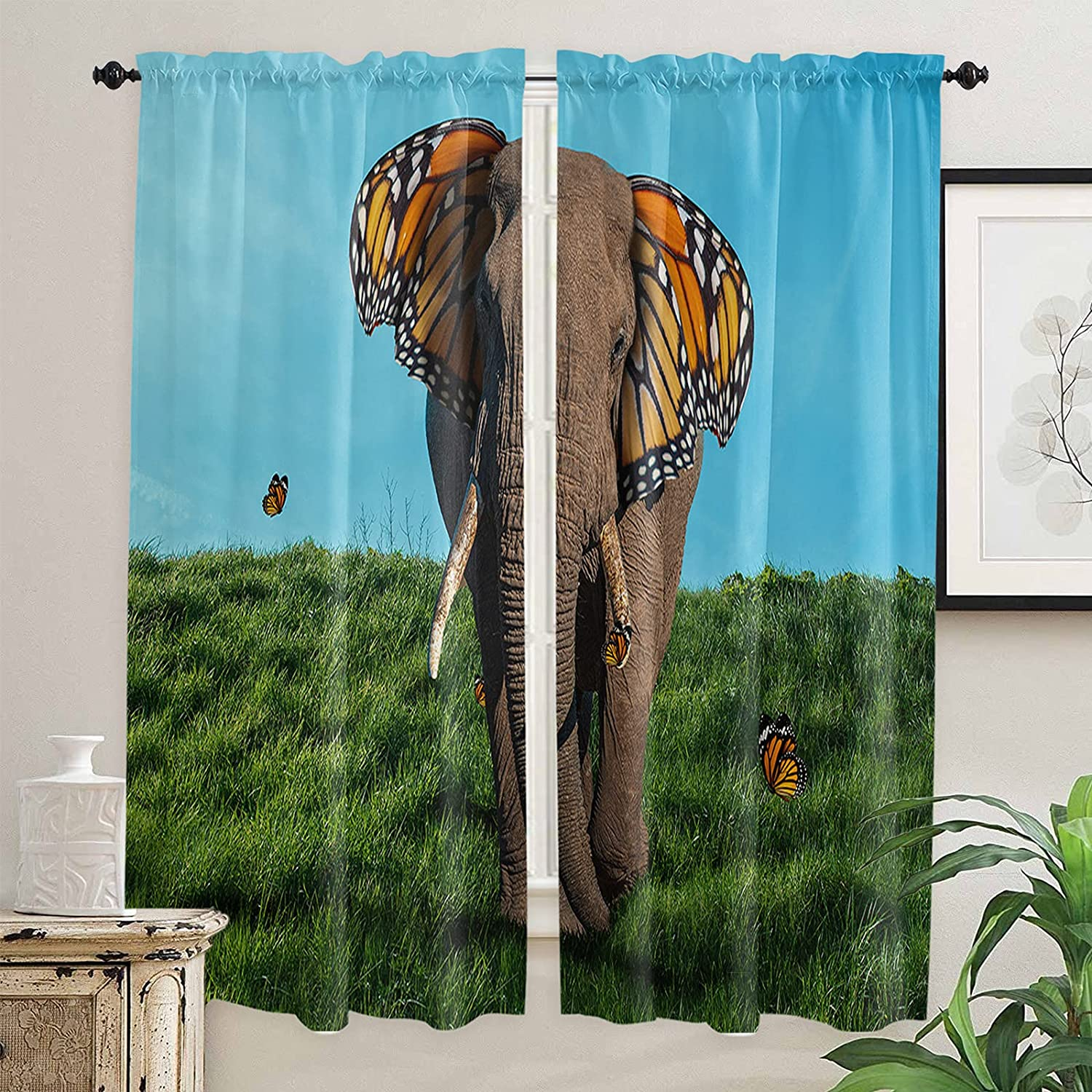 Natural Grassland Kitchen Curtains 72 F Translated Windows Length Inch for Cash special price