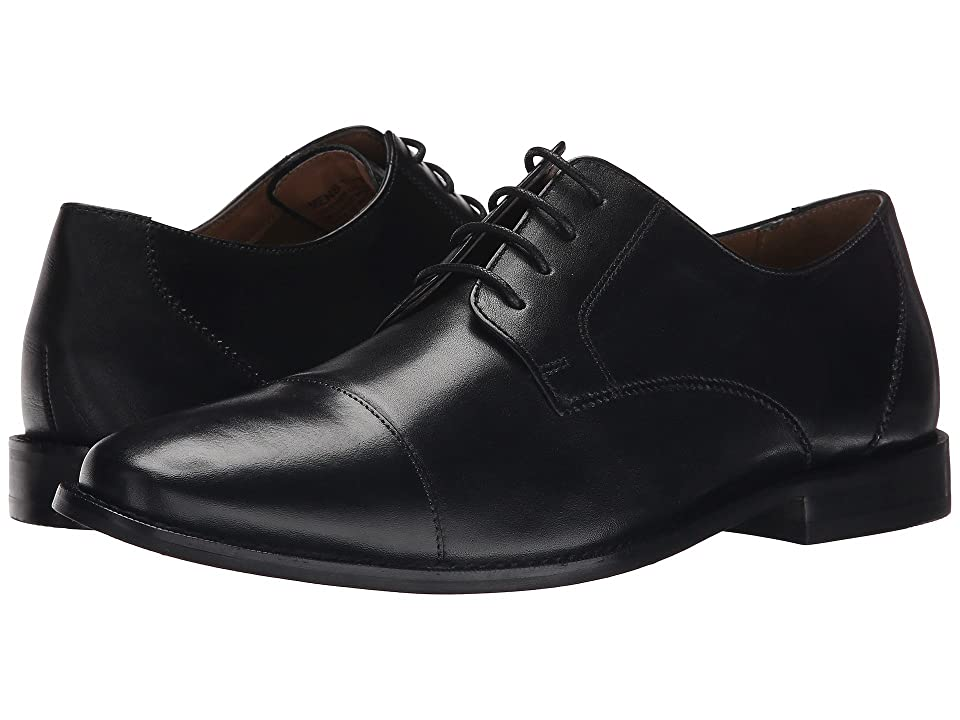 1920s Style Mens Shoes | Peaky Blinders Boots Florsheim Montinaro Cap Toe Oxford Black Smooth Mens Lace Up Cap Toe Shoes $100.00 AT vintagedancer.com