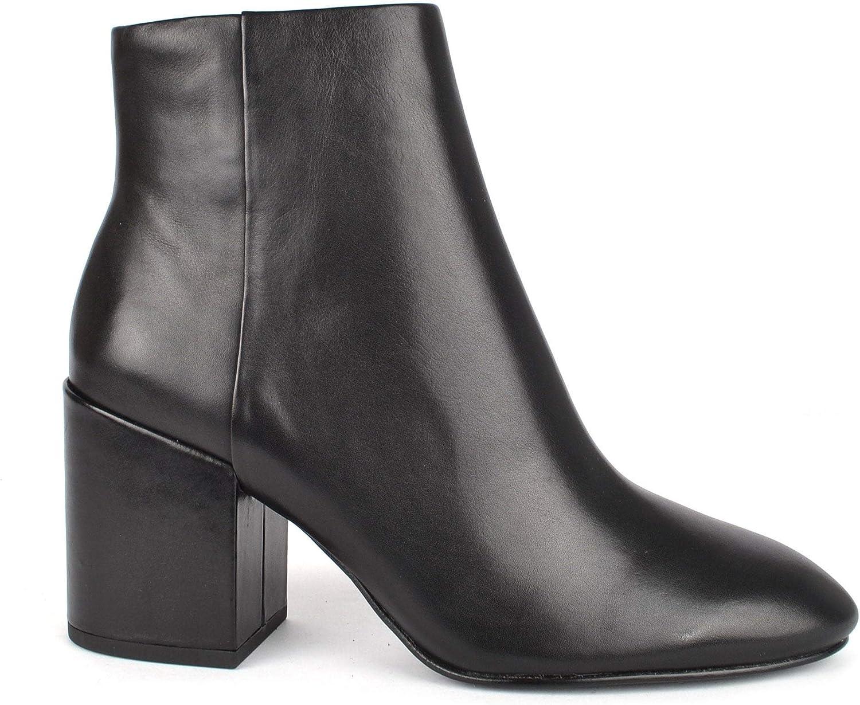 ASH Footwear Eden Schwarz Schwarz Leder Stiefelette mit Ferse - Damen 36 Schwarz  kosteneffizient