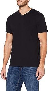 MERAKI Camiseta Entallada con Cuello Redondo Hombre, Algodón Orgánico
