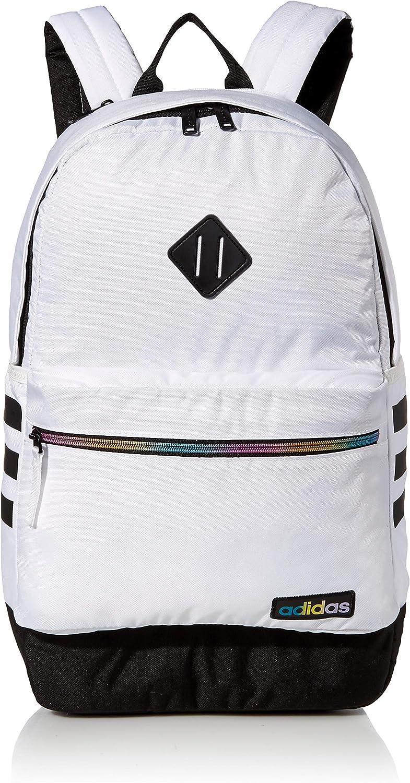 adidas Unisex Classic 3S III backpack, White/Rainbow/Black V3, One Size