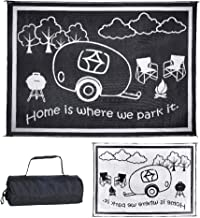Stylish Camping RH8111 Black/White 8-Feet x 11-Feet RV Home Mat