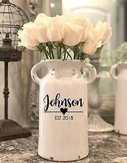 Bridesmaid Gift Wedding Vases Tall Vase Flower Vase Custom Personalized Vase Etched Glass Vase Monogrammed Square Vase Personalized Centerpiece Vases