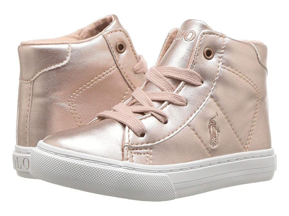 Polo Ralph Lauren Kids Easten Mid (Toddler) (Pink Metallic) Girl