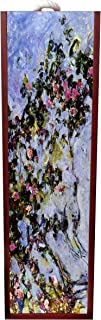Artist Claude Monet's The Rose Bush Painting Wine Box Rosewood with Slide Top - Wine Box Holder - Wine Case Decoration - Wine Case Wood - Wine Box Carrier