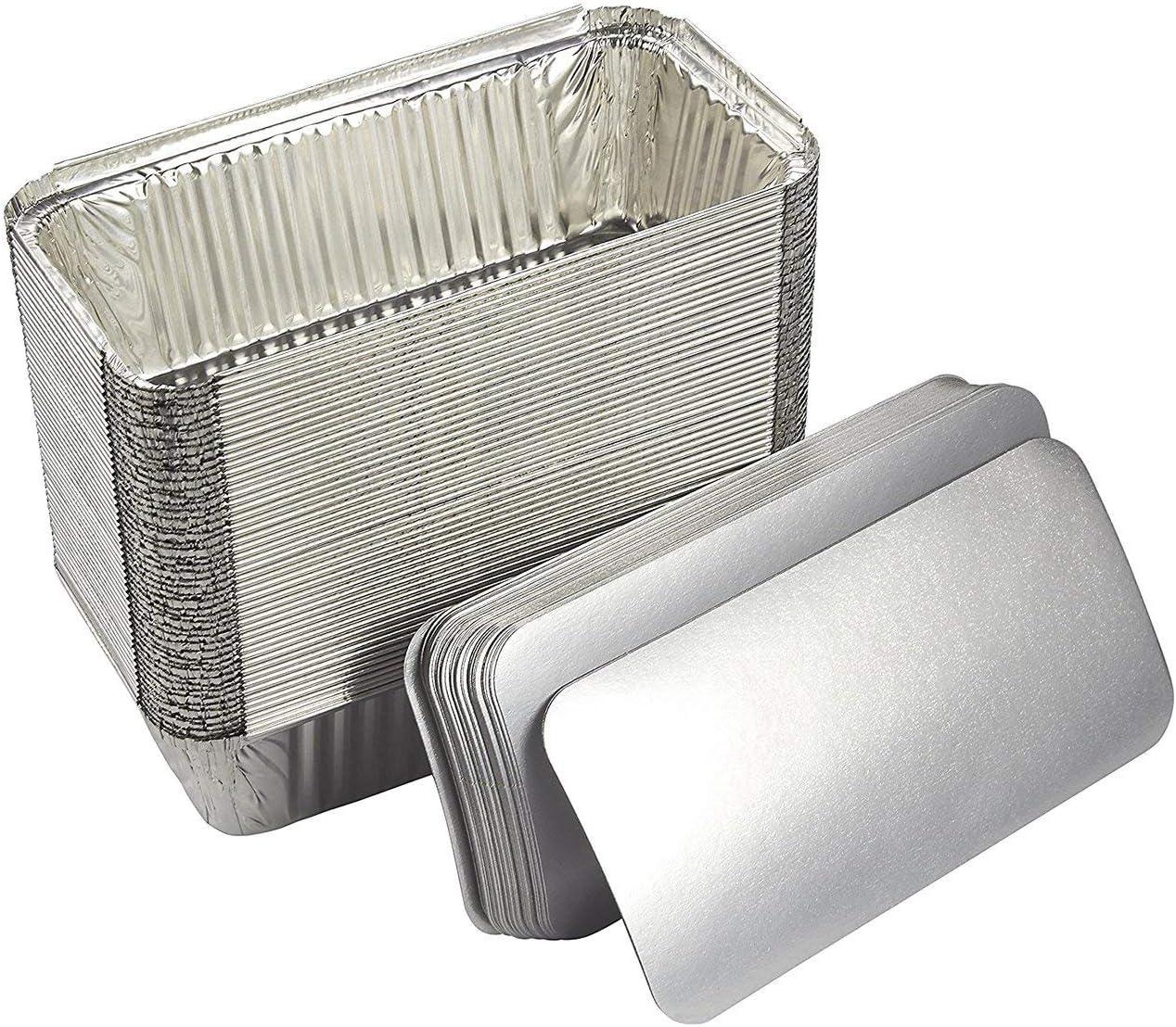 Zuvo 50 Large Aluminium Disposable Reusable Foil Food Container