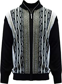 Men's Sweater, Modern Cable Knit Jacquard