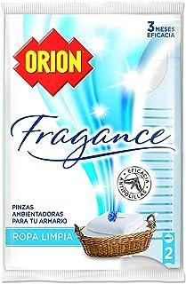 ORION Fragance - Pinzas Ambientadoras Antipolillas para Armarios, Aroma Ropa Limpia - Bolsa de 2 ...