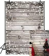 DULUDA 5X7FT Grey Wood Snowflakes Photograghy Backdrop Customized Studio Christmas Background Studio Photo Booth Props AJS16