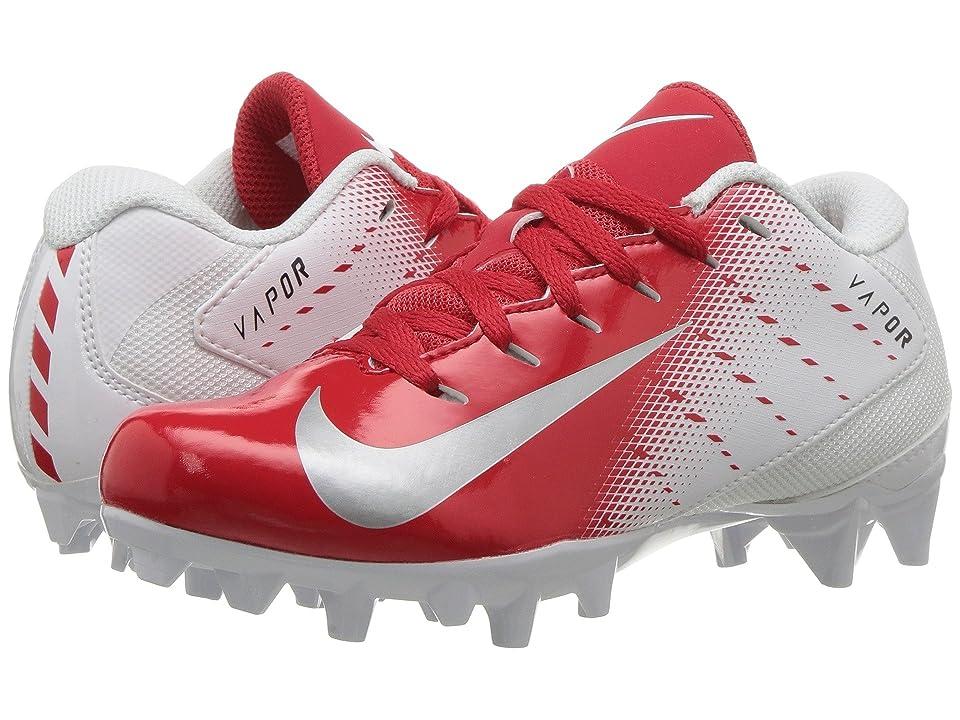Nike Kids Vapor Untouchable Varsity 3 Football (Toddler/Little Kid/Big Kid) (White/Metallic Silver/University Red) Kids Shoes