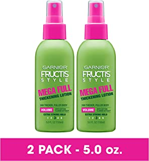 Garnier Fructis Style Mega Full Thickening Lotion for All Hair Types, 5 Ounce (2 Count) (Packaging May Vary)
