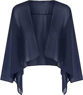 likemary Women's Sheer Chiffon Shrug Bolero Jacket