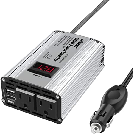 YORKING 300W Car Vehicle Converter Power Inverter DC 12V to AC 230V USB Charger Port