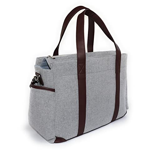 a603c36838 Designer Diaper Bag | Large and Durable | Gender Neutral Tote Bag Includes  Changing Pad,