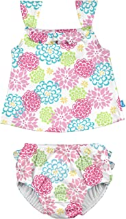 Baby Two-piece Tankini with Reusable Swimsuit Diaper