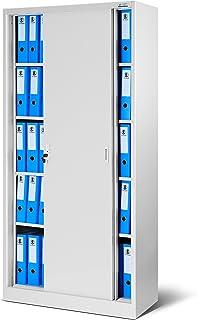 Jan Nowak by Domator24 Lüllmann SD001-Armario de Oficina con Puertas correderas (Chapa, estantes con Recubrimiento de Polv...