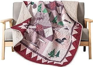 SLPR Wild Wonders Cabin Lodge Printed Quilted Throw Blanket (50