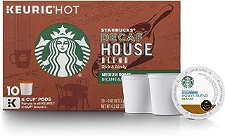 Starbucks House Blend Keurig Pods, Decaf, Medium Roast Coffee, Single Serve K-Cups, 10 Count, Pack of 6