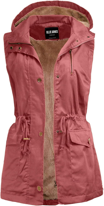 OLLIE ARNES Women's Lightweight Sleeveless Utility Anorak Vest J