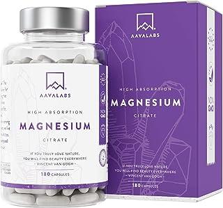High Absorption Magnesium Citrate Supplements - [ 448 mg ] - Vegan Magnesium Capsules - High Dose of Elemental Magnesium –...