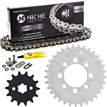 NICHE Drive Sprocket Chain Combo for Kawasaki KLX110 Suzuki DRZ110 Front 14 Rear 33 Tooth 420V O-Ring 86 Links