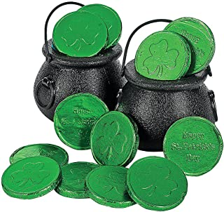 Fun Express - Candy Kettles for St. Patrick's Day - Party Supplies - Containers & Boxes - Plastic Containers - St. Patrick's Day - 12 Pieces