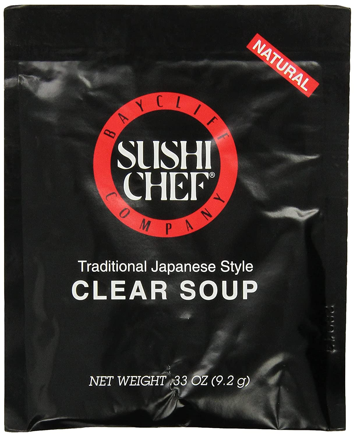 Sushi Popular overseas Chef Clear Soup Max 45% OFF 0.33-Ounce Packages 12 of Pack 3 -set