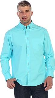 a84b5add1c08d Gioberti Mens Long Sleeve Casual Twill Contrast Shirt