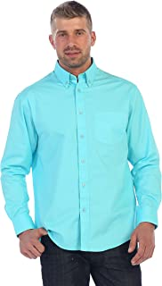 Mens Long Sleeve Casual Twill Contrast Shirt