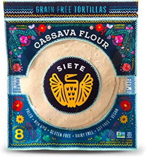 Siete, Coconut Cassava Tortillas, 7 oz, 8 ct (Frozen)