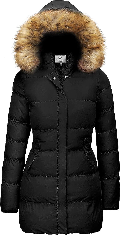 WenVen Women's Winter Thicken Puffer Coat Warm Jacket with Fur Removable Hood